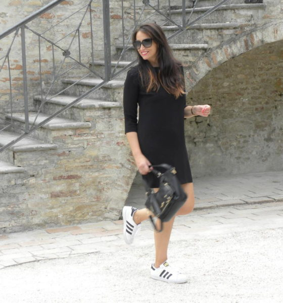Look total black: il mio outfit ed un paio di Superstar!