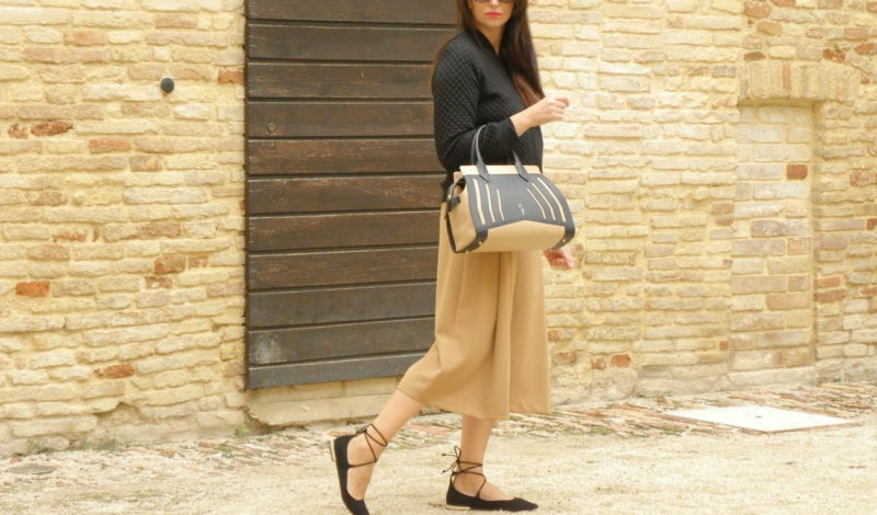 How to match colors: black and beige for a unique look