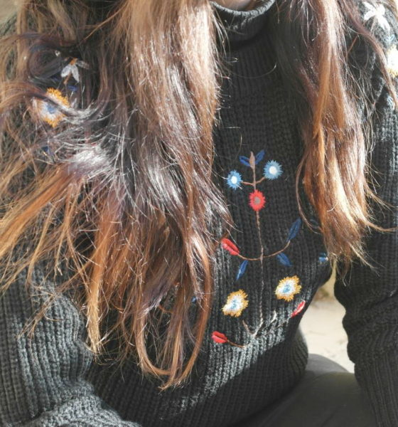 Embroidered wool sweater: the trend of winter!