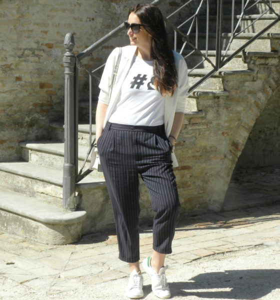 White t-shirt and Karl Lagerfeld: how I like to wear it!