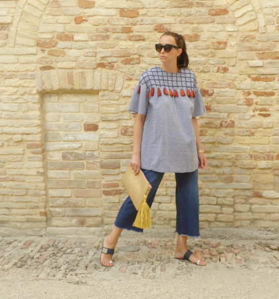 Look Estate 2017: una blusa etnica e culottes denim