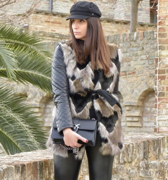 How to wear a faux fur vest: my idea for a winter look!