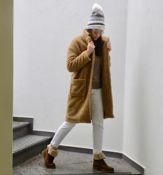 How to dress when it's cold: a warm look for February!