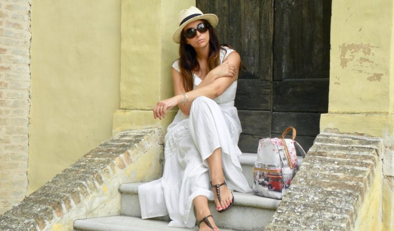 Long summer dress: a boho style look for the summer 2018!