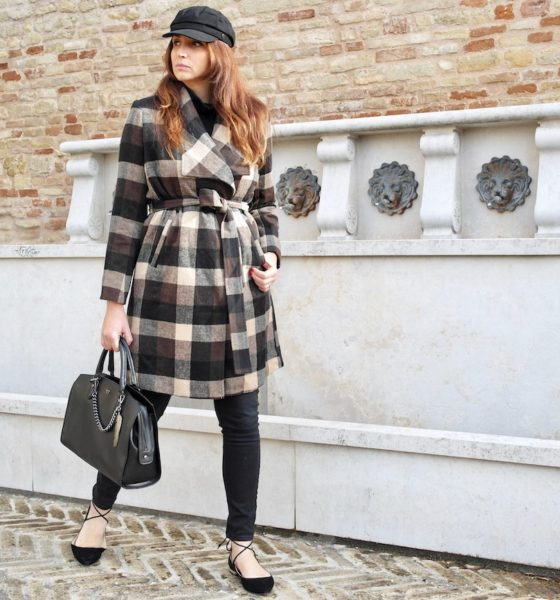 Women's plaid coat: best 2019 winter trend